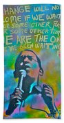Obama In Living Color Beach Towel