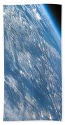 Oblique Shot Of Earth Beach Towel