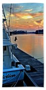 Ocean Addiction Sunset Beach Towel