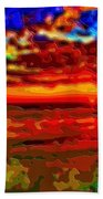 Landscape Ocean Sunset Beach Towel