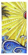 Ocean Fury By Madart Beach Towel
