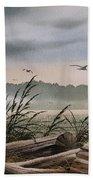 Ocean Shore Beach Towel by James Williamson