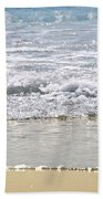 Ocean Shore With Sparkling Waves Beach Towel