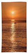 Ocean Sunrise At Montauk Point Beach Towel