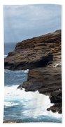 Ocean Vs. Rock Beach Towel