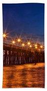 Oceanside Pier Evening Beach Towel