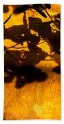 Ochre Wall Silk Lantern 02 Beach Towel
