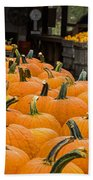 October At The Farm - Pumpkins Beach Towel