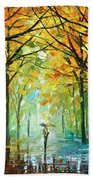 October In The Forest Beach Towel by Leonid Afremov