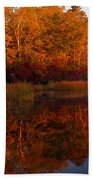 October Mirror Beach Towel