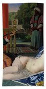 Odalisque With Slave Beach Towel by Ingres