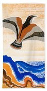 Odyssey Illustration  Bird Of Potent Beach Sheet