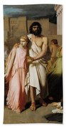 Oedipus And Antigone Or The Plague Of Thebes  Beach Towel