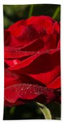 Of Red Roses And Diamonds  Beach Towel