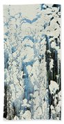 Of Snow And Clouds Beach Towel