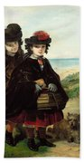 Off To School, 1860 Beach Towel