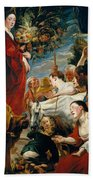 Offering To Ceres Goddess Of Harvest Beach Towel