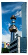 Office Building And Waste-to-energy Plant Vienna Beach Towel by Stephan Pietzko
