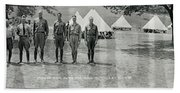 Officers At Camp Newayo, New York State Beach Towel