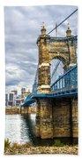 Ohio River Bridge Beach Towel
