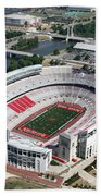 Ohio Stadium Aerial Beach Towel