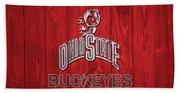 Ohio State Buckeyes Barn Door Beach Towel