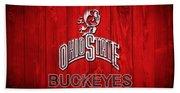 Ohio State Buckeyes Barn Door Vignette Beach Towel