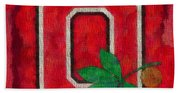 Ohio State Buckeyes On Canvas Beach Towel