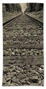 Ohio Train Tracks Beach Towel