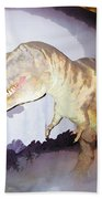 Oil Painting - Thankfully This T Rex Is A Dummy Beach Towel