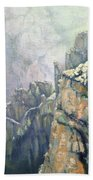 Oil Painting - Majestic Canyon Beach Towel