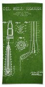 Oil Well Reamer Patent From 1924 - Green Beach Towel