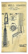 Oil Well Reamer Patent From 1924 - Vintage Beach Towel