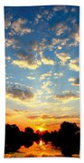 Okavango Delta Sunset Beach Towel