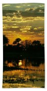 Okavango Sunset Beach Towel