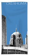 Oklahoma City Skyline - Slate Beach Towel