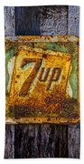 Old 7 Up Sign Beach Towel