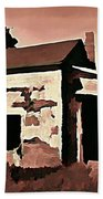 Old Abandoned House In Cape Breton Beach Towel by John Malone