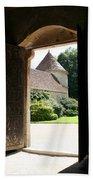 Old Abbey Church Door - Abbey Fontenay Beach Towel