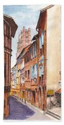 Old Albi The Pink City Of South West France Beach Towel