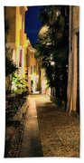 Old Alley At Night Beach Towel
