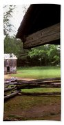 Old Appalachian Barn Yard Beach Towel