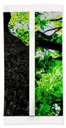 Old Barks Diptych - Deciduous Trees Beach Sheet