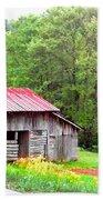 Old Barn Near Willamson Creek Beach Towel