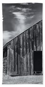 Old Barn No Wind Beach Towel