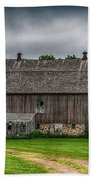 Old Barn On A Stormy Day Beach Towel