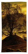 Old Birch Tree At The Sognefjord Beach Towel