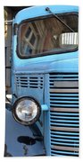 Old Blue Jalopy Truck Beach Towel