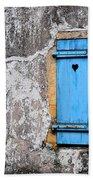 Old Blue Shutters Beach Towel