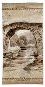 Old Bridge Beach Towel